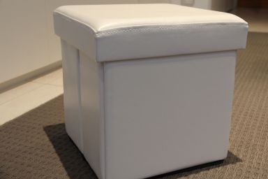 Fabric covered ottoman02