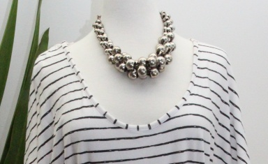 silber bead necklace