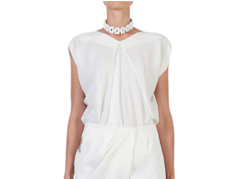 Willow draped shirt in white