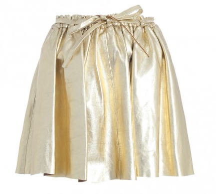 Zimmerman leather skirt gold