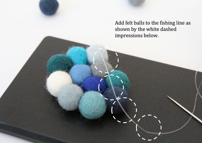 Felt ball rug annotated image 3