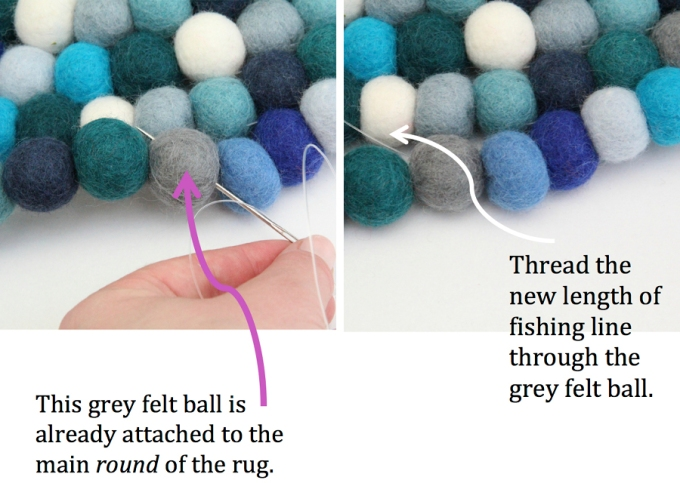 Felt ball rug annotated image 6