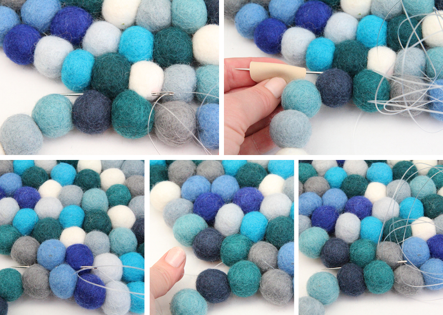 diy home: felt ball rug | catherinegrace