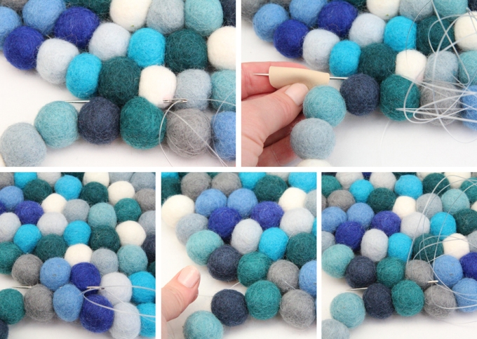 Felt ball rug annotated image 7