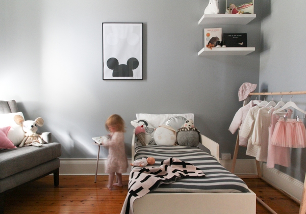 Last image - Toddler bed - childrens interior design - styling and photography by catherine and grace - copyright 2014