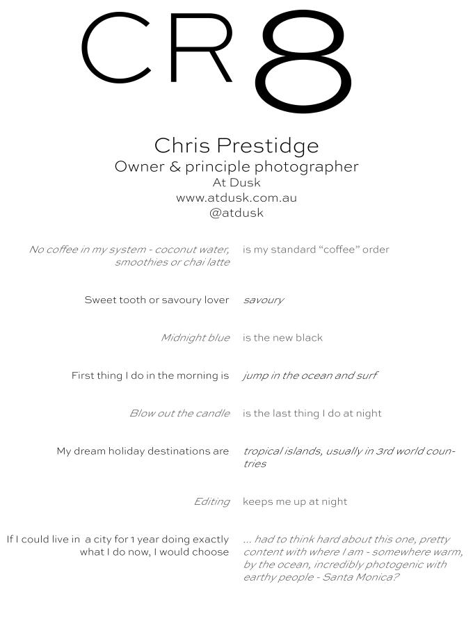 CR8 - Chris Prestige