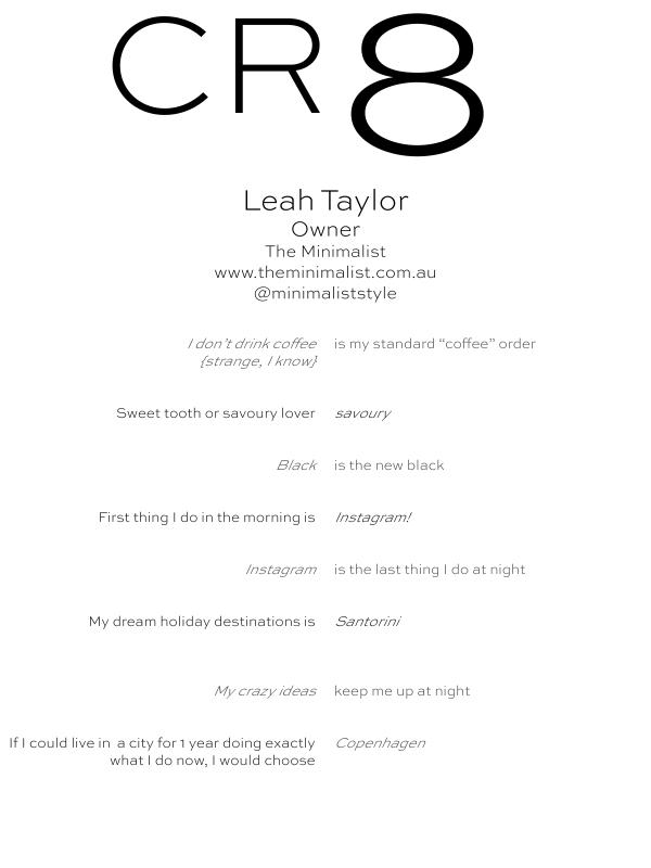CR8 - Leah Taylor