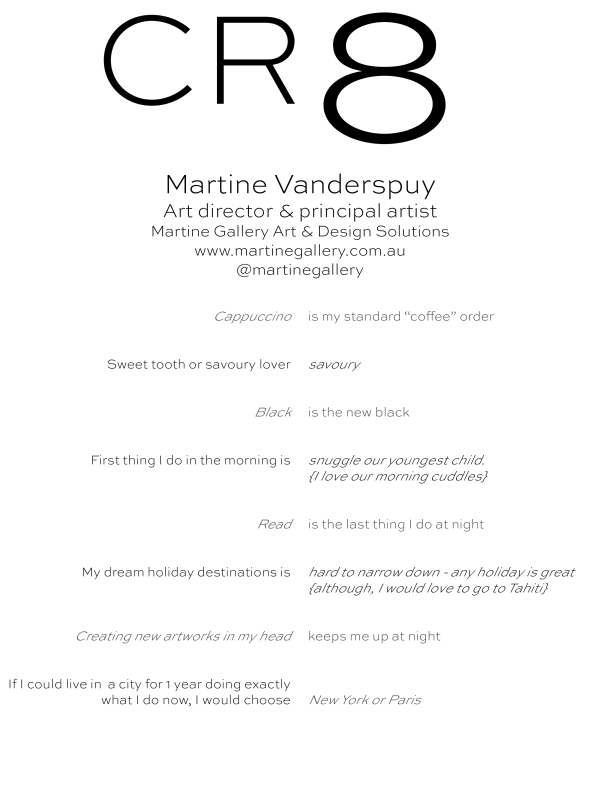 CR8 - Martine Vanderspuy