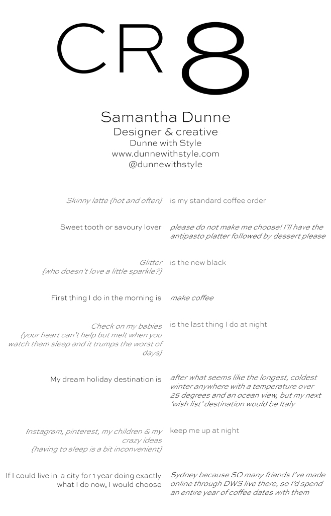 CR8 - Samantha Dunne